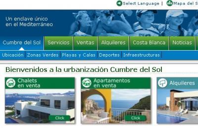 Nueva página Web Cumbre del Sol