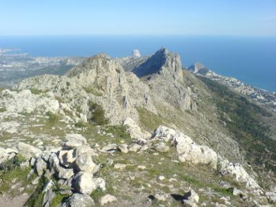 Senderismo en la Sierra de Bernia, PR CV 7.