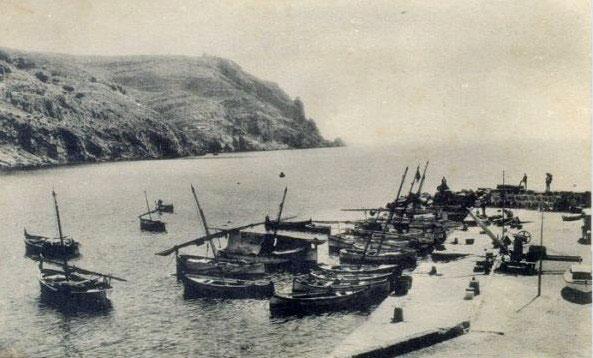 Foto histórica del puerto de Javea
